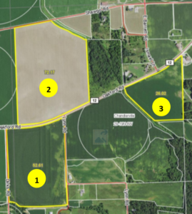 158.25 Acre Cass County Farmland Auction · 3 Tracts · SOLD!
